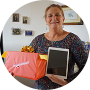 Annette Mooij - Winnaar Apple iPad